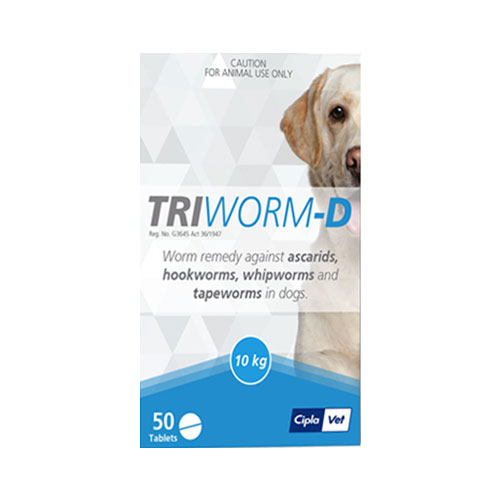 Triworm-D Dewormer for Dog Supplies
