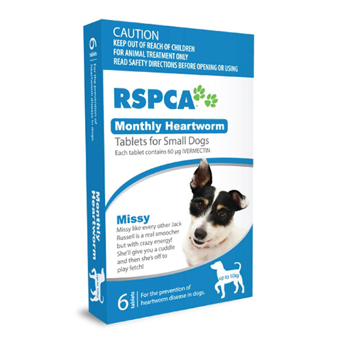 RSPCA Monthly Heartworm Tablets for Dog Supplies